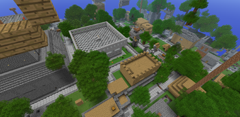 the spawn area of the Survival server.